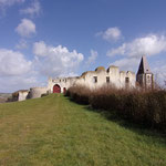 Château de Picquigny, la barbacane, façade sud