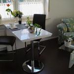 gemütliche, neue Sitzgruppe in der Wohnküche in der Glockenstrasse