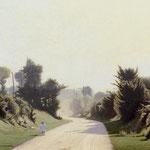 Paysage avec un enfant sur le chemin, 1900 (60 x 110 cm)