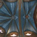 Detail foto plafond koor gedeelte van de Saint Jean Batiste kerk in Ancemont, Frankrijk (Voor)
