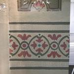 overbrengen van de schildering d.m.v. doorstuur techniek en inpenselen