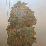 Reinigen en retoucheren Muurschildering te Haarlem