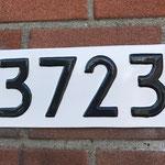 Huisnummers weer als nieuw