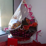 Panier garni: chocolats, tablette et biscuits 22.50 €