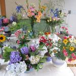 たくさんのお花で飾られました