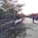 フェンスの先は帰還困難地域