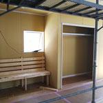 2020年8月2日 礼拝堂内の休憩スペース コート掛けスペース