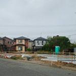 2020年6月6日 捨てコン(コンクリート敷き詰め)+ビニールシート