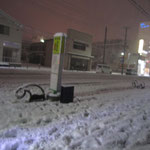 夜行バスの停留所!!!