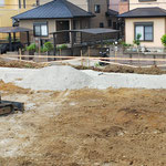 2020年6月3日 地盤沈下を防ぐ為の砕石設置