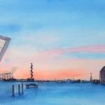 Blaue Stunde an der Elbe