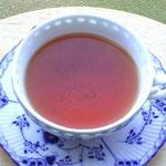 梅ケ島の紅茶。きれいな水色です。