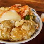 3月1日。七尾の「いしり亭」でお昼。牡蠣とかき揚げのW天丼。