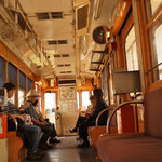 3月30日。高知の路面電車。