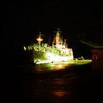 午後6時の小木港。寒い。