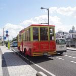 町めぐりのバス。
