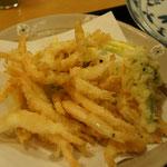 3日のお昼、白エビ天ぷら。