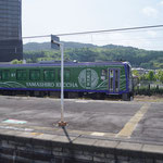 加茂駅で見たラッピング列車、いつ走るのだろう?