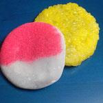 12日。五色生菓子の「日」と「山」。
