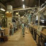 広井茶の茶工場で掃除中。明日から稼働。