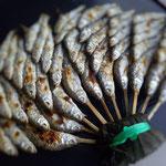 高梁川のハヤ。商店街の魚屋さんで購入。いい味です。