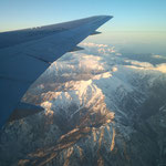 2月28日。東京出張の帰り。長野あたりでしょうか。