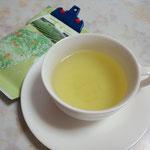 高梁の復興茶園でできた緑茶です。せっかくだから特徴が欲しいところ。釜炒りとかね。