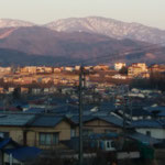 16日、町内の高台まで散歩。