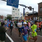 27日。金沢マラソンを応援。