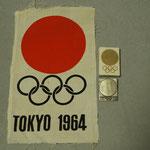 10日。部屋を整理して見つけました。1964年東京五輪の記念品。