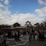 元旦の石川門。