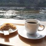 4月1日。四万十川のお茶栗カフェ。