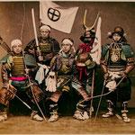 Самураи в доспехах
