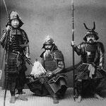 Самураи в доспехах 1890год