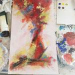 Schritt für Schritt zu einem Acrylbild