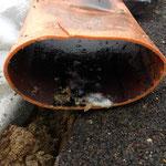 deformiertes KG Rohr Kanalinspektion