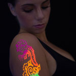 Backlight glittertattoo