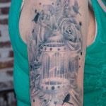 Realistische tijdelijke airbrush tattoo
