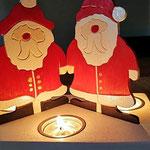 Houten Sfeerlicht Kerstman, uniek, theelichthouder speciaal, bijzondere sfeerlichten, uitgevallen theelichthouder_3