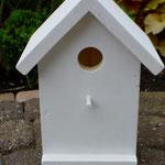 Vogelhuisje bouwen nestkastje hout onbeschilderd naturel_staand_frontaanzicht
