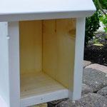 Vogelhuisje bouwen nestkastje hout onbeschilderd naturel_staand_binnenkant