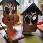 Vogelhuisje bouwen nestkastje hout Paard en Ezel in de maak_details_drogen