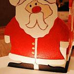 Houten Sfeerlicht Kerstman, uniek, theelichthouder speciaal, bijzondere sfeerlichten, uitgevallen theelichthouder_7