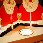 Houten Sfeerlicht Kerstman, uniek, theelichthouder speciaal, bijzondere sfeerlichten, uitgevallen theelichthouder_10