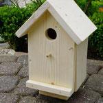 Vogelhuisje bouwen nestkastje hout onbeschilderd naturel