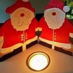Houten Sfeerlicht Kerstman, uniek, theelichthouder speciaal, bijzondere sfeerlichten, uitgevallen theelichthouder_1