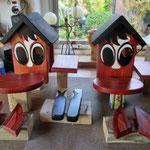 Vogelhuisje bouwen nestkastje hout paard en ezel in de maak_in de verf
