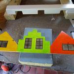 Vogelhuisje bouwen mussenkolonie in de maak_detail_gevel_beschilderd