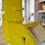 Vogelhuisje bouwen nestkastje hout Salsa-hut in de maak_detail_nestkast