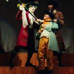Avec Philippe Peters (Lucas) et Jean-François Warmoes (Sganarelle) - Rôle de Valère, domestique de Géronte